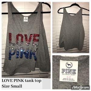 PINK Sequin Tank Top